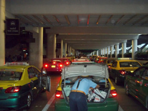 Taxi rank at new Don Muang Aiport