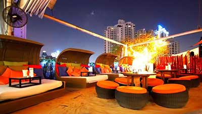 Nest Rooftop Bar at Le Fenix Hotel